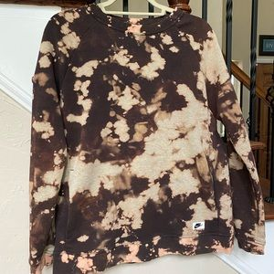 Bleach dyed Nike Pullover
